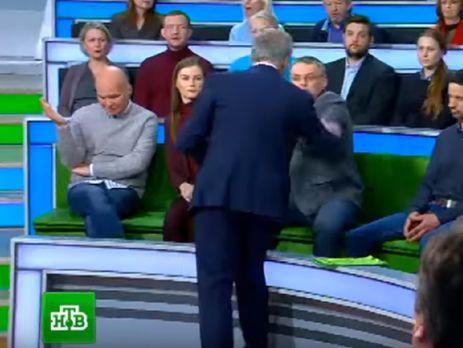 В эфире российского телеканала после слов об убийстве детей на Донбассе произошла драка. Видео