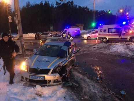Нічні погоні: п'ятеро поліцейських уКиєві та Рівному постраждали, переслідуючи порушників (відео)