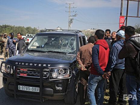 Взрыв произошел вскоре после того, как кортеж въехал в сектор Газа