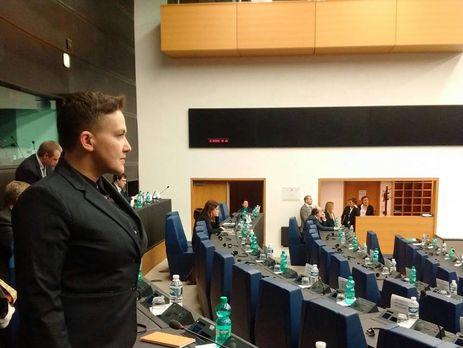 Савченко в Европарламенте, а ее ждут в СБУ