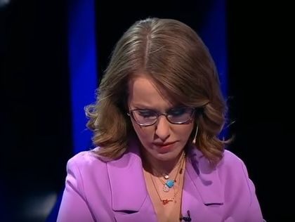 Собчак в ході дебатів розплакалася і покинула студію