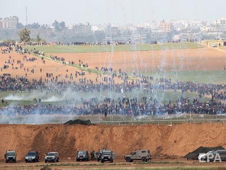 Армия Израиля открыла огонь попалестинским демонстрантам всекторе Газа