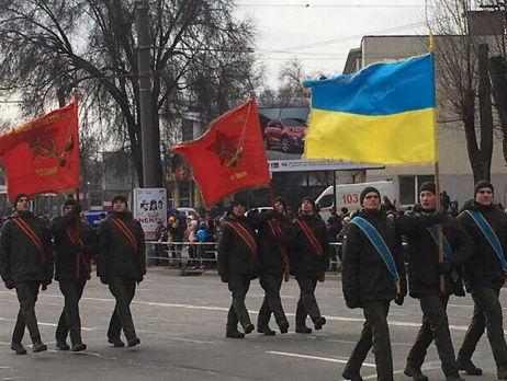Нацгвардія понизила командира частини зарадянські прапори напараді уКривому Розі