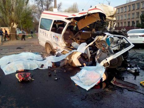 Жуткое ДТП вКривом Роге: восемь погибших, 17 раненых
