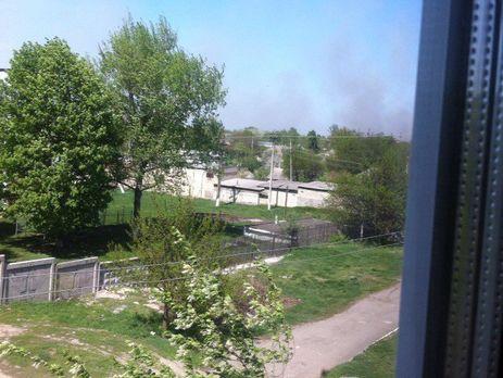 ВХарьковской области после пожара наскладе боеприпасов начались взрывы