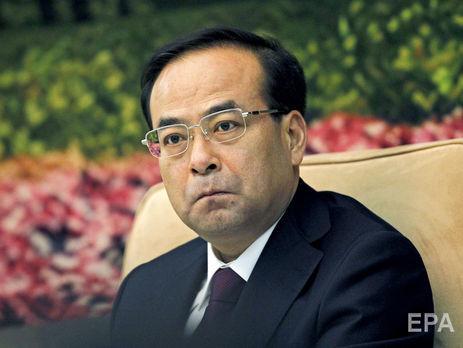 УКитаї відомого політика засудили додовічного ув'язнення закорупцію
