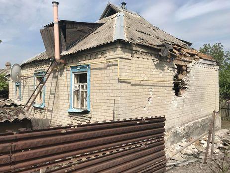 Последствия обстрела поселка Лоскутовка Попаснянского района Луганской области