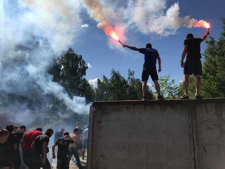 Националисты митингуют в Козине