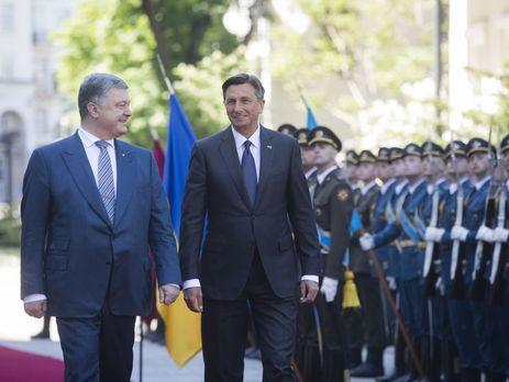 Президент України Петро Порошенко обговорив ситуацію в Криму з главою Словенії Борутом Пахором