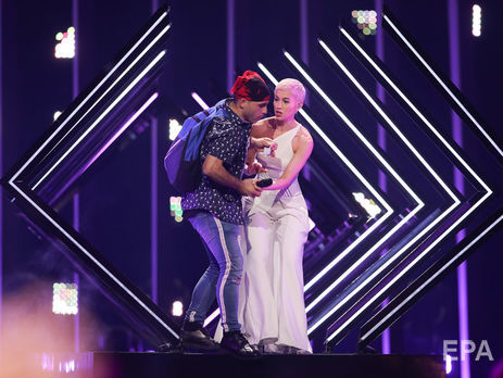 У фіналі Євробачення невідомий вибіг на сцену