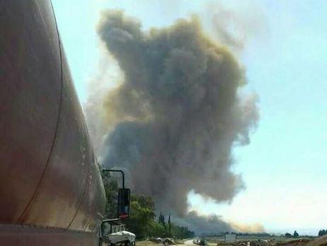 В окрестностях военного аэродрома города Хама в Сирии произошли мощные взрывы