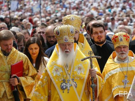 Патриарх Филарет: Сейчас Киевский патриархат по сравнению с Московским больше вдвое