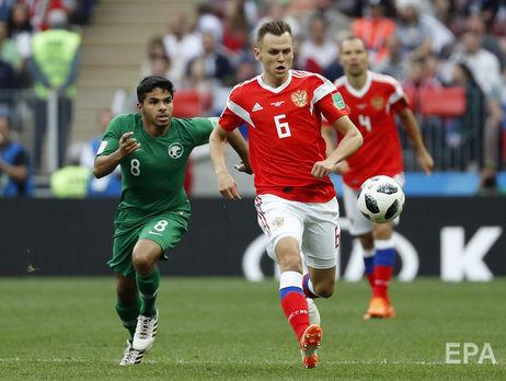 У матчі-відкритті чемпіонату світу з футболу Росія розгромила Саудівську Аравію