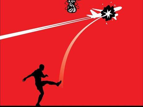 У Нідерландах замовили друк марок із зображенням символіки ЧС і футболіста, який збиває літак. Поштовий оператор заявив, що шкодує про це