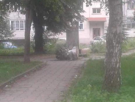 НаЛьвовщине вандалы разбили монумент  российскому поэту
