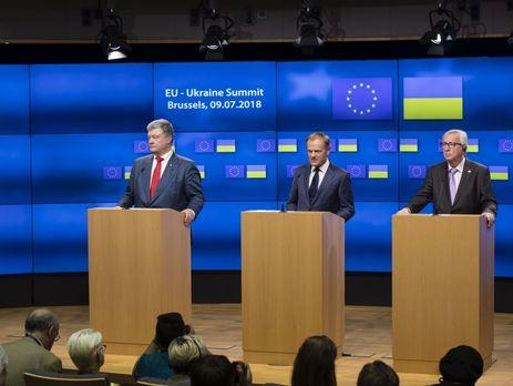 Порошенко, Туск і Юнкер підписали підсумкову декларацію саміту