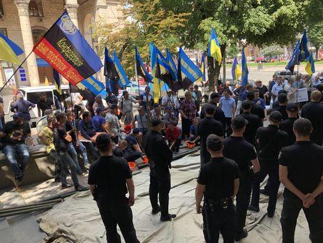 Вцентре столицы Украины подрались министр энергетики инародный депутат