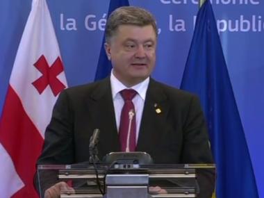 Порошенко: Сегодня Украина вместе с Крымом становится частью Европейского союза / Гордон