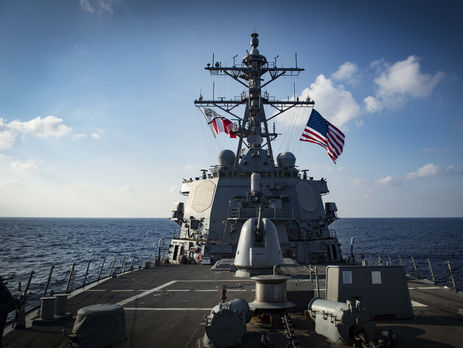 ВЧерное море «ворвался» американский ракетный эсминец Carney