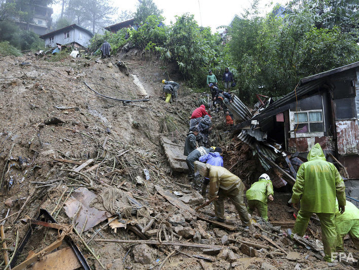На Філіппінах 64 людини загинули внаслідок тайфуну