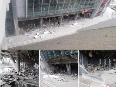 Бомба попала в донбасс арену