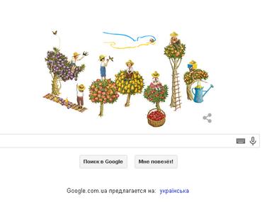 Google первым поздравил украину с днем