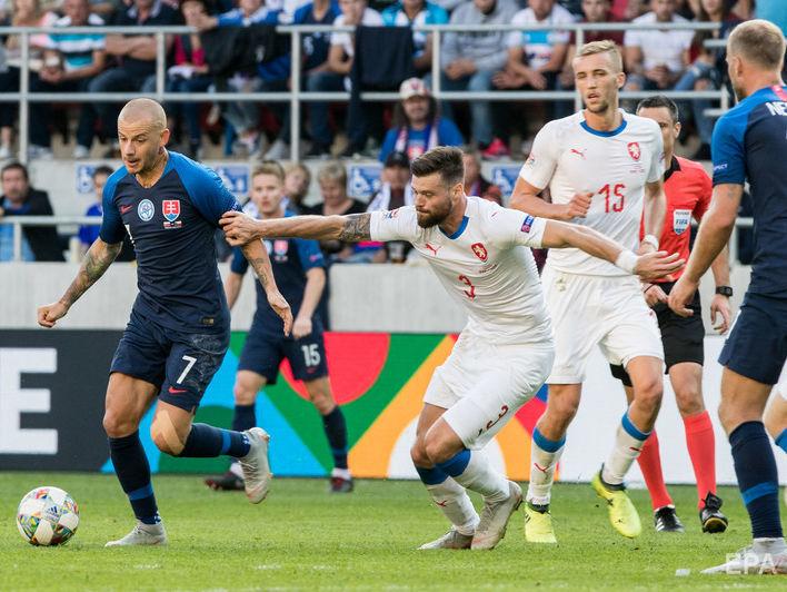 Перед матчем с Украиной в Лиге наций футболисты Чехии выиграли у Словакии