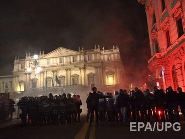 Столкновения демонстрантов с полицией прошли в Италии