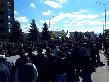 В Ингушетии проходили протесты