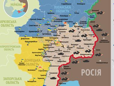 За первую половину дня террористы восемь раз обстреляли украинские войска