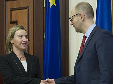 Сегодня Яценюк и Могерини обсудили сотрудничество Украины с ЕС