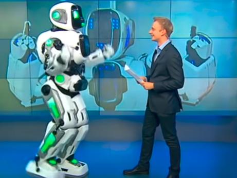 Робот Алеша вернулся в российский телеэфир