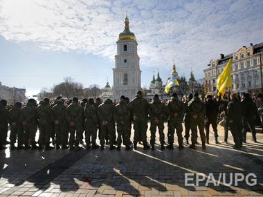 В киеве общественный порядок на марше