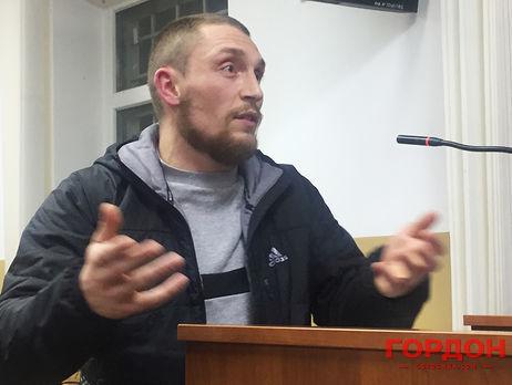 Виталий Чередник, один из трех свидетелей обвинения, который дал вчера показания суду о том, как его нанимали для противодействия Майдану и сколько платили