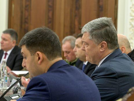 На заседании СНБО Порошенко выразил несогласие с идеей перевозить военные корабли по суше в порты Азовского моря