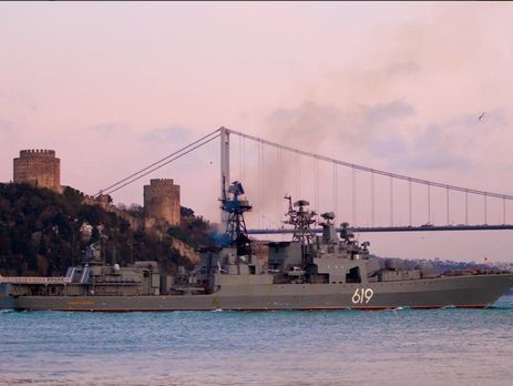В воды Черного моря вошел боевой российский корабль
