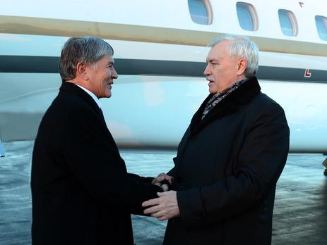 Президент Кыргизии и губернатор Санкт-Петербурга