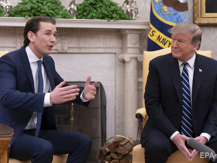 """Курц после встречи с Трампом заявил о поддержке """"Северного потока — 2"""""""