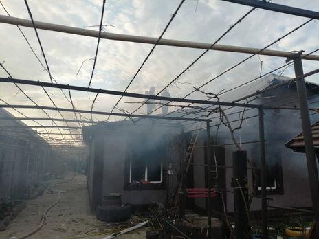 Площадь пожара в доме составила 70 м²