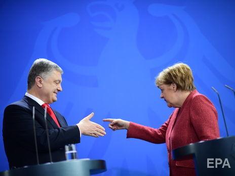 12 апреля Порошенко встретился с Меркель