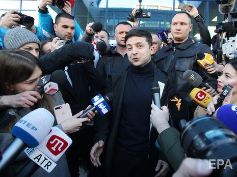 Зеленский (на фото): На месте Порошенко я ушел бы из политики