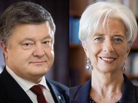 Руководитель МВФ провела беседу сПорошенко: очем говорили идоговаривались