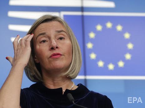 Могерини: Вопрос санкций против РФ обсуждали в начале заседания Совета ЕС по иностранным делам