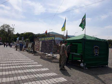 На площади Свободы в Харькове образовался палаточный городок