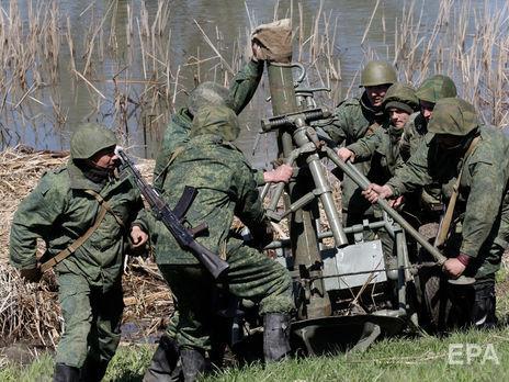 Для обстрелов боевики на Донбассе применяли минометы