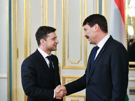 Зеленский на встрече с президентом Венгрии высказал надежду, что Будапешт восстановит поддержку евроатлантической интеграции Киева