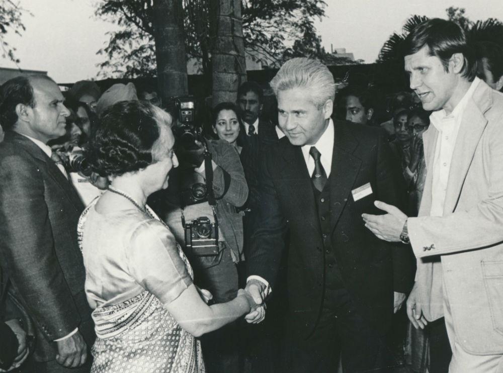с Индирой Ганди. Фото из личного архива Витольда Фокина