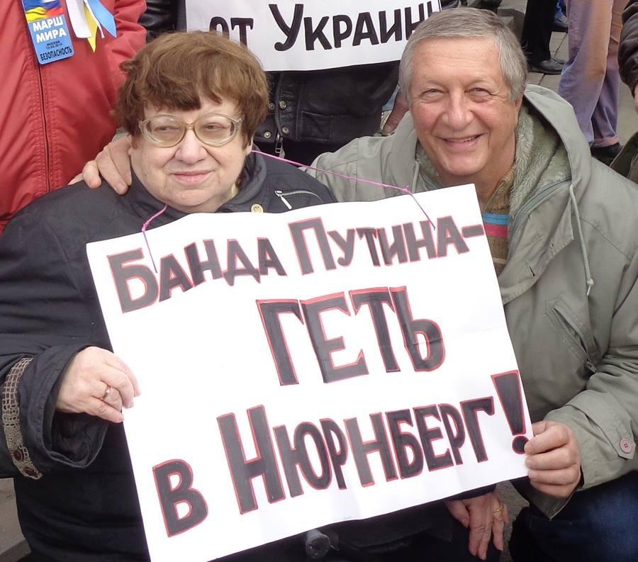 Валерия Новодворская и Константин Боровой, март 2014 года. Фото: Константин Боровой / Facebook