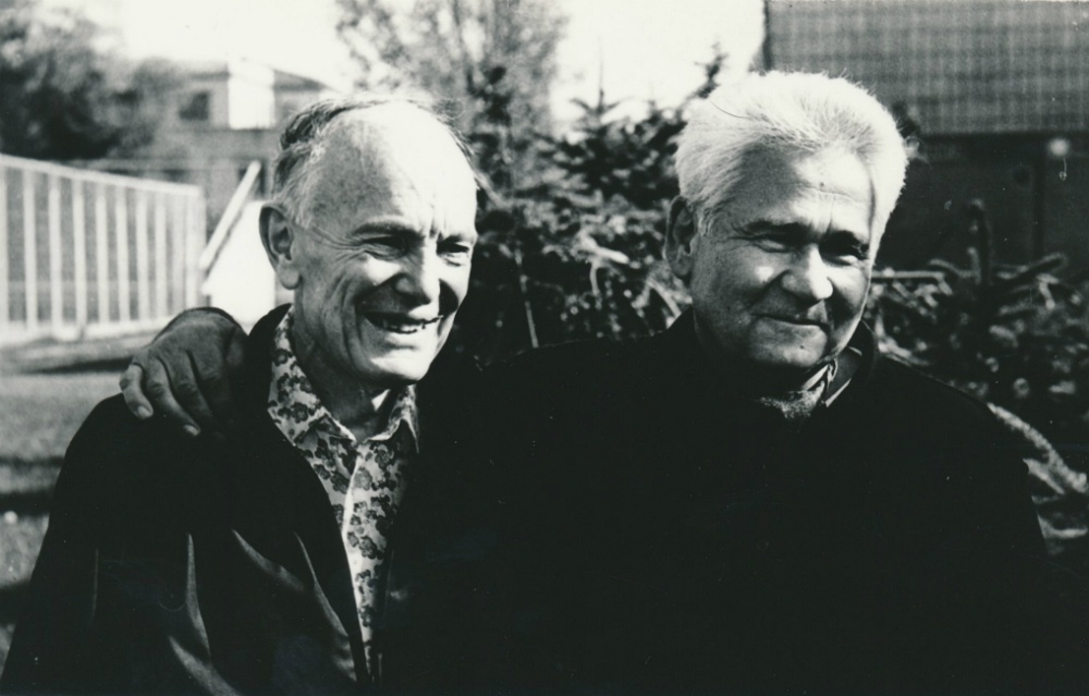 """Борис Патон и Витольд Фокин. """"Я этого человека боготворю – просто боготворю! – таких, как он, больше нет"""". Фото из личного архива Витольда Фокина"""