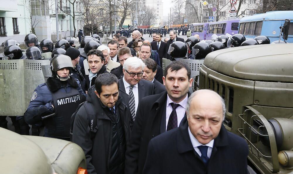 Министры после встречи с Януковичем. Фото: @GermanyDiplo / Twitter